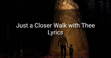 Just a Closer Walk with Thee Lyrics